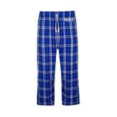 Royal/White Flannel Pajama Pant-Beta Theta Pi Greek Letters
