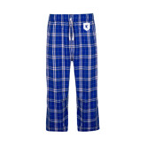 Royal/White Flannel Pajama Pant-Official Shield