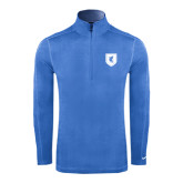 Nike Sphere Dry 1/4 Zip Light Blue Cover Up-Official Shield