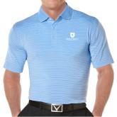 Callaway Core Stripe Light Blue/White Polo-Official Logo