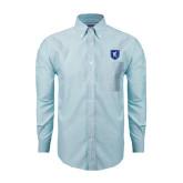 Mens Light Blue Oxford Long Sleeve Shirt-Official Shield