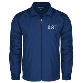 Full Zip Royal Wind Jacket-Beta Theta Pi Greek Letters