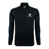 Nike Golf Dri Fit 1/2 Zip Black/Royal Cover Up-Official Logo
