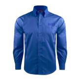 Red House French Blue Dobby Long Sleeve Shirt-Beta Theta Pi Greek Letters