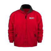 Red Survivor Jacket-Beta Theta Pi Greek Letters