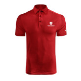Under Armour Red coldblack Embossed Polo-Official Logo