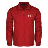 Full Zip Red Wind Jacket-Beta Theta Pi Greek Letters