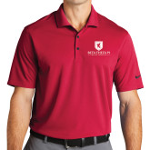 Nike Golf Dri Fit Red Micro Pique Polo-Official Logo