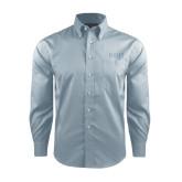 Red House Lt Blue Long Sleeve Shirt-Beta Theta Pi Greek Letters