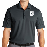 Nike Golf Dri Fit Charcoal Micro Pique Polo-Official Shield