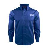 Red House French Blue Long Sleeve Shirt-Beta Theta Pi Greek Letters