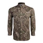 Camo Long Sleeve Performance Fishing Shirt-Beta Theta Pi