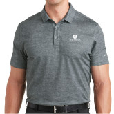 Nike Dri Fit Charcoal Crosshatch Polo-Official Logo