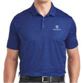 Nike Dri Fit Royal Crosshatch Polo-Official Logo