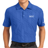 Nike Dri Fit Royal Embossed Polo-Beta Theta Pi Greek Letters