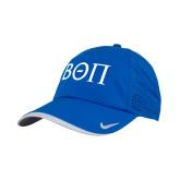 Nike Dri Fit Royal Perforated Hat-Beta Theta Pi Greek Letters