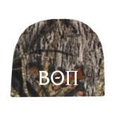 Mossy Oak Camo Fleece Beanie-Beta Theta Pi Greek Letters