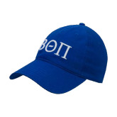 Royal Twill Unstructured Low Profile Hat-Beta Theta Pi Greek Letters