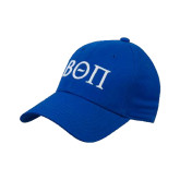 Royal Heavyweight Twill Pro Style Hat-Beta Theta Pi Greek Letters