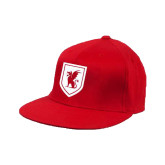 Red OttoFlex Flat Bill Pro Style Hat-Official Shield