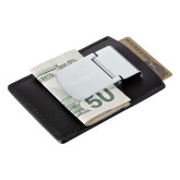 Zippo Leather Money Clip Card Case-Official Logo Flat Version Engraved