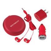3 in 1 Red Audio Travel Kit-Beta Theta Pi