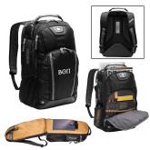 Ogio Bolt Black Backpack-Beta Theta Pi Greek Letters