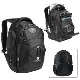 Ogio Stratagem Black Backpack-Official Logo