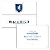 Founding Fathers Generic Tri Fold Bid Card w/Match A6 Personalized Envelope-
