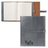 Fabrizio Grey Portfolio w/Loop Closure-Interlocking UB Engraved
