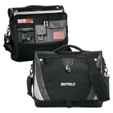 Slope Black/Grey Compu Messenger Bag-Buffalo Word Mark