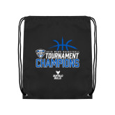 Black Drawstring Backpack-2018 Mens Basketball Champions - Stacked