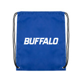 Royal Drawstring Backpack-Buffalo Word Mark
