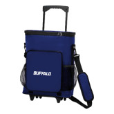 30 Can Blue Rolling Cooler Bag-Buffalo Word Mark