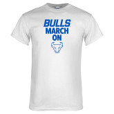 White T Shirt-Bulls March On
