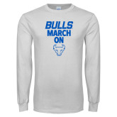 White Long Sleeve T Shirt-Bulls March On