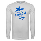 White Long Sleeve T Shirt-This Is My Game Day T-Shirt