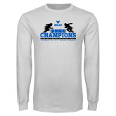 White Long Sleeve T Shirt-Bahamas Bowl Champions - Distrssed