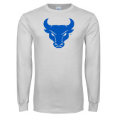 White Long Sleeve T Shirt-Bull Spirit Mark