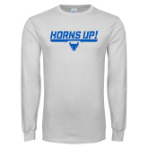 White Long Sleeve T Shirt-Horns Up