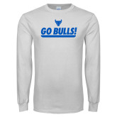 White Long Sleeve T Shirt-Go Bulls