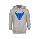 Youth Grey Fleece Hood-Bull Spirit Mark