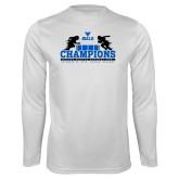 Performance White Longsleeve Shirt-Bahamas Bowl Champions - Distrssed