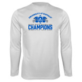 Performance White Longsleeve Shirt-Bahamas Bowl Champions - Football
