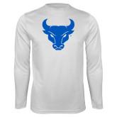 Syntrel Performance White Longsleeve Shirt-Bull Spirit Mark