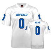 UB  Replica White Adult Football Jersey-Personalized