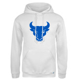 Russell DriPower White Fleece Hoodie-Bull Spirit Mark