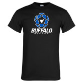 Black T Shirt-Buffalo Soccer Geometric Ball