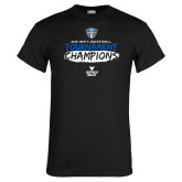 Black T Shirt-2018 Mens Basketball Champions - Brush