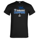 Black T Shirt-2018 Mens Basketball Champions - Stacked